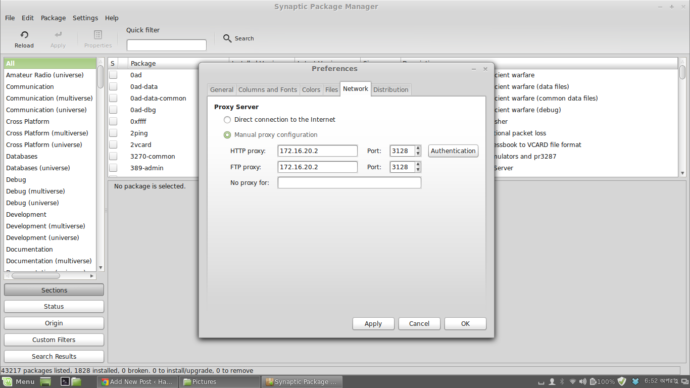 How to Get Working Internet on Linux Mint/Ubuntu from Behind
