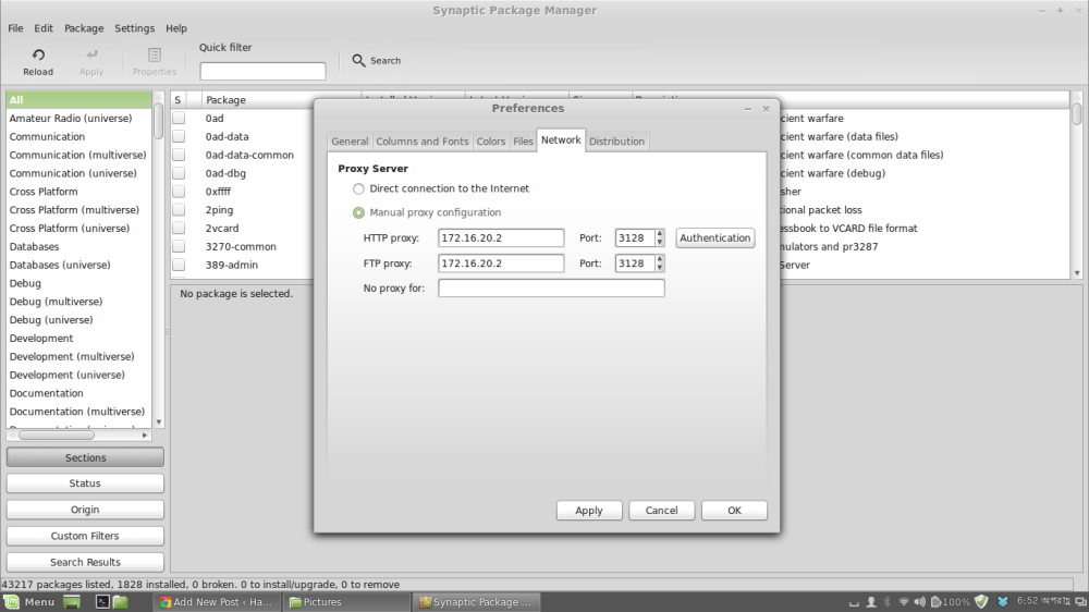 How to Get Working Internet on Linux Mint/Ubuntu from Behind A Squid Proxy (2/2)